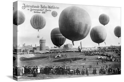 Berlin Ballon Race Photo--Stretched Canvas Print