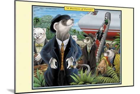 A Business of Ferrets-Richard Kelly-Mounted Art Print