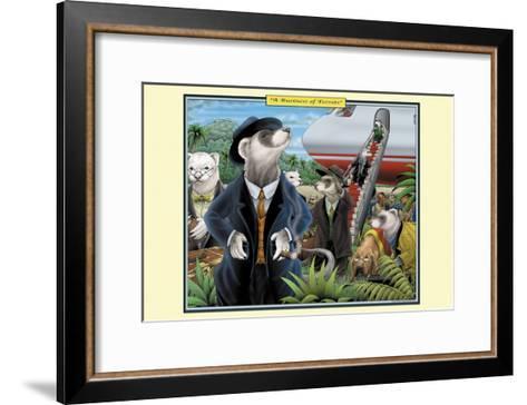 A Business of Ferrets-Richard Kelly-Framed Art Print