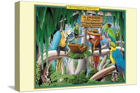 A Company of Parrots-Richard Kelly-Stretched Canvas Print