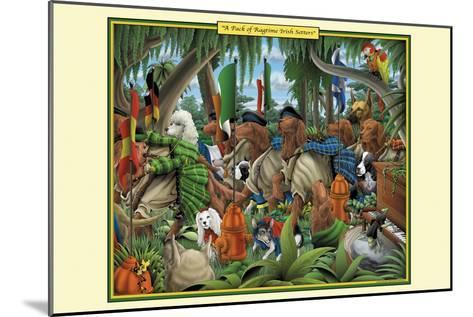 A Pack of Ragtime Irish Setters-Richard Kelly-Mounted Art Print