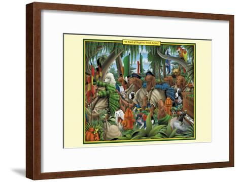 A Pack of Ragtime Irish Setters-Richard Kelly-Framed Art Print