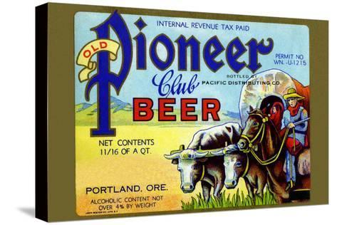 Old Pioneer Club Beer--Stretched Canvas Print