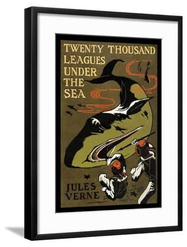 Twenty Thousand Leagues under the Sea-Jules Verne-Framed Art Print