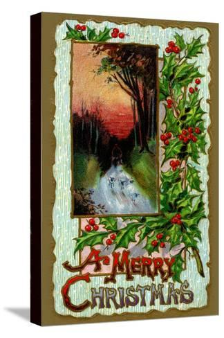A Merry Christmas--Stretched Canvas Print