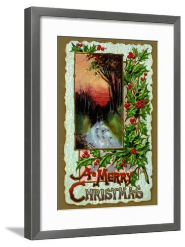 A Merry Christmas--Framed Art Print