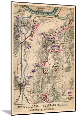 Battle of Lookout Mountain--Mounted Art Print