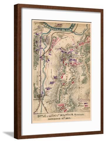 Battle of Lookout Mountain--Framed Art Print