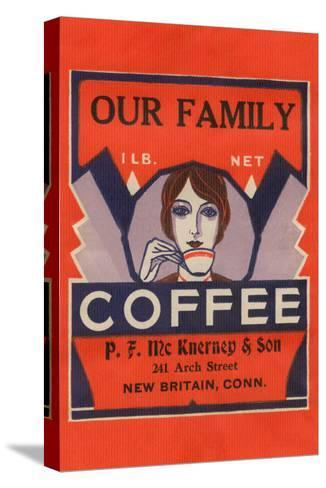 Our Family Coffee--Stretched Canvas Print