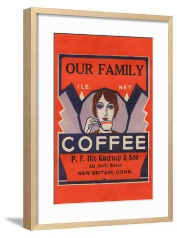 Our Family Coffee--Framed Art Print