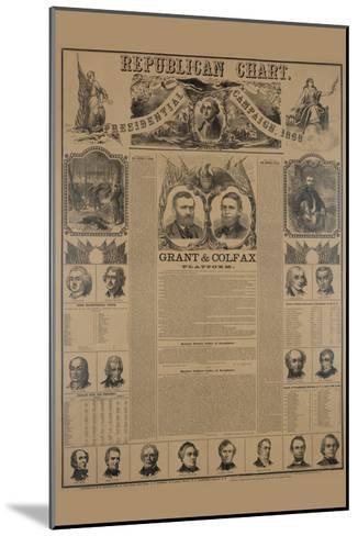 Republican Chart. Presidential Campaign, 1868-H^ H^ Lloyd-Mounted Art Print