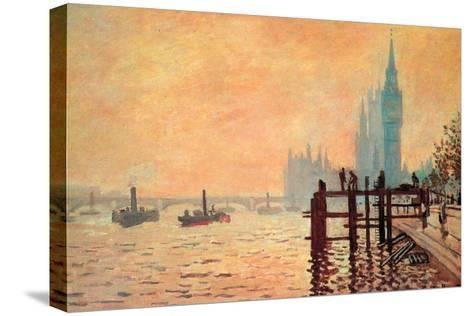 The Thames and Westminster-Claude Monet-Stretched Canvas Print