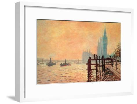 The Thames and Westminster-Claude Monet-Framed Art Print