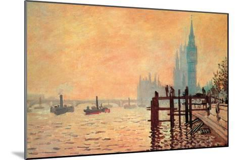 The Thames and Westminster-Claude Monet-Mounted Art Print