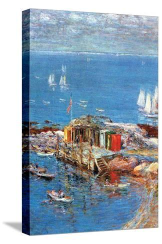 Afternoon in August-Childe Hassam-Stretched Canvas Print
