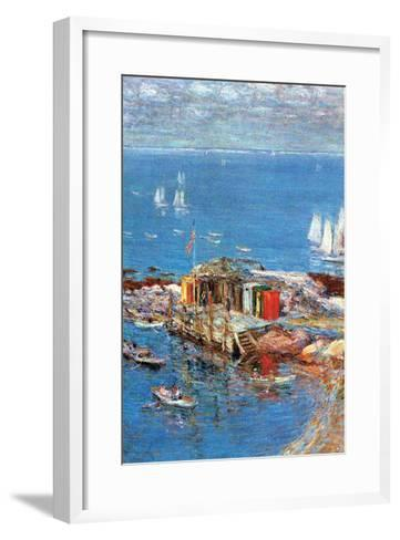 Afternoon in August-Childe Hassam-Framed Art Print
