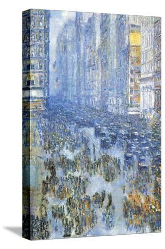 Fifth Avenue-Childe Hassam-Stretched Canvas Print