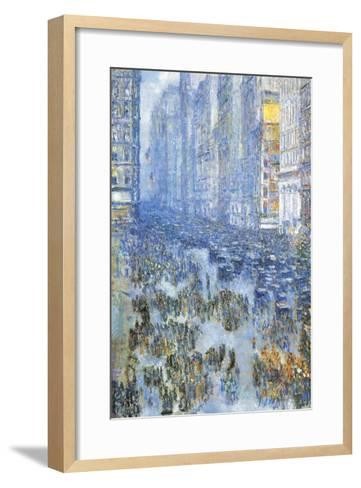 Fifth Avenue-Childe Hassam-Framed Art Print
