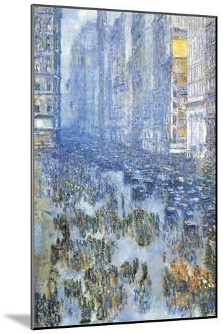 Fifth Avenue-Childe Hassam-Mounted Art Print