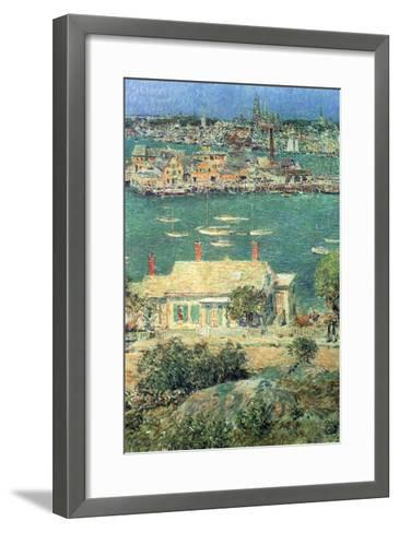 Port of Gloucester-Childe Hassam-Framed Art Print