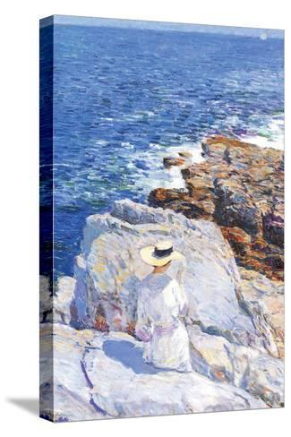 Southern Rock Riffs, Appledore-Childe Hassam-Stretched Canvas Print