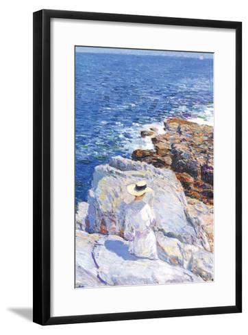 Southern Rock Riffs, Appledore-Childe Hassam-Framed Art Print