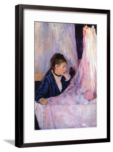 Mother Looks at Baby in the Cradle-Berthe Morisot-Framed Art Print
