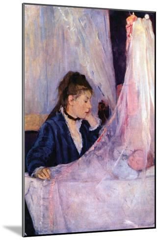 Mother Looks at Baby in the Cradle-Berthe Morisot-Mounted Art Print