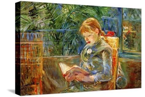 Little Girl-Berthe Morisot-Stretched Canvas Print