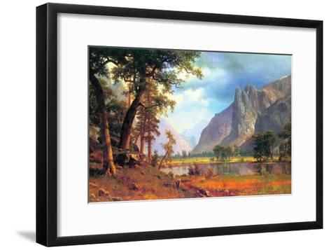 Yosemite Valley-Albert Bierstadt-Framed Art Print