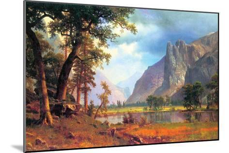 Yosemite Valley-Albert Bierstadt-Mounted Art Print