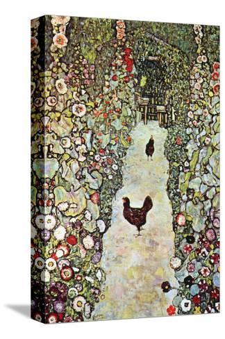 Garden Path with Chickens-Gustav Klimt-Stretched Canvas Print