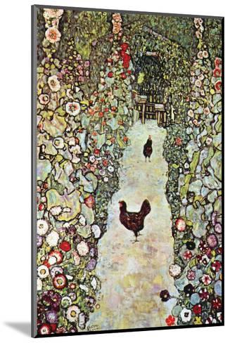 Garden Path with Chickens-Gustav Klimt-Mounted Art Print