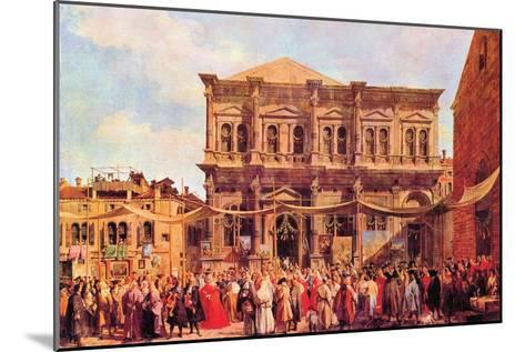 Festival in San Rocco-Canaletto-Mounted Art Print