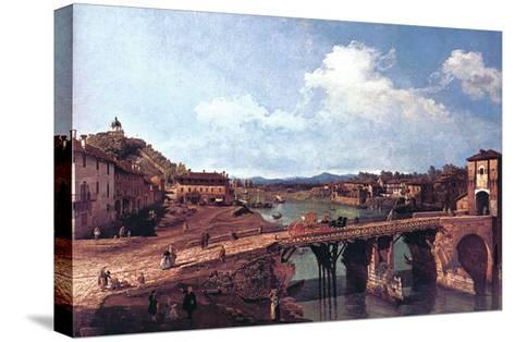 Turin or Torino-Canaletto-Stretched Canvas Print
