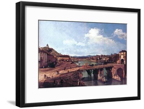 Turin or Torino-Canaletto-Framed Art Print