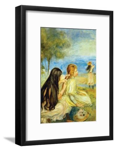 Girls by the Seaside-Pierre-Auguste Renoir-Framed Art Print