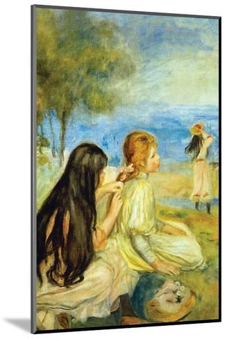 Girls by the Seaside-Pierre-Auguste Renoir-Mounted Art Print