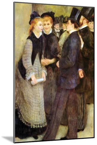 Leaving the Conservatoire-Pierre-Auguste Renoir-Mounted Art Print