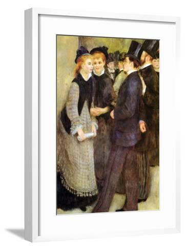 Leaving the Conservatoire-Pierre-Auguste Renoir-Framed Art Print