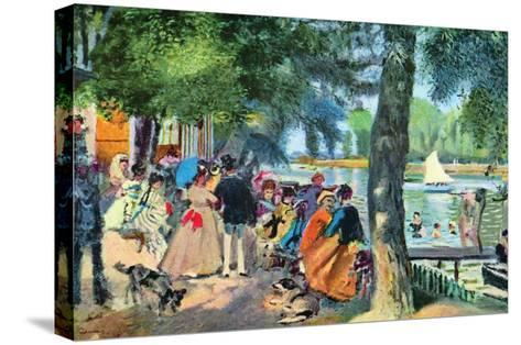 La Grenouillere-Pierre-Auguste Renoir-Stretched Canvas Print