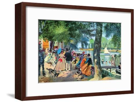 La Grenouillere-Pierre-Auguste Renoir-Framed Art Print