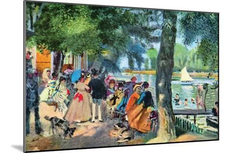 La Grenouillere-Pierre-Auguste Renoir-Mounted Art Print