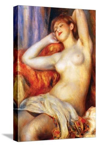 The Sleeping-Pierre-Auguste Renoir-Stretched Canvas Print