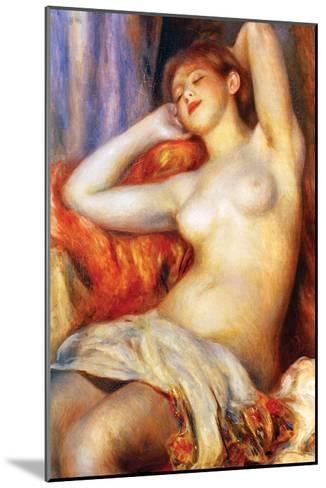 The Sleeping-Pierre-Auguste Renoir-Mounted Art Print