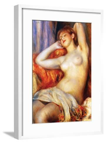 The Sleeping-Pierre-Auguste Renoir-Framed Art Print