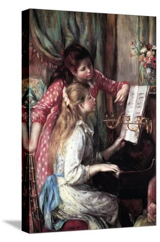 Girls at the Piano-Pierre-Auguste Renoir-Stretched Canvas Print