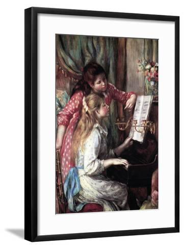 Girls at the Piano-Pierre-Auguste Renoir-Framed Art Print