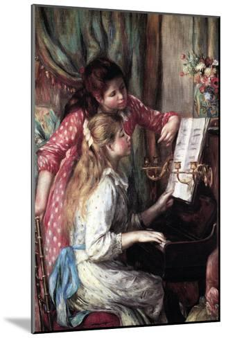 Girls at the Piano-Pierre-Auguste Renoir-Mounted Art Print