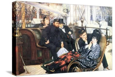 The Last Evening-James Tissot-Stretched Canvas Print
